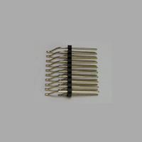 Free Shipping 500pcs 2*10 Pin 2.0mm 90 SMT Double Row Male Pin Header connector H1.5mm