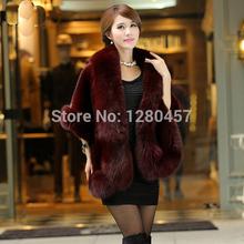 Faux Fur Coat Mink Skin Stitching The Fox Fur Shawl The New Imitation Fur Vest(China (Mainland))
