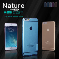Free shipping 10pcs original Nillkin case for Apple iPhone 6 Plus (5.5 inch) Nature TPU transparency case +retail box