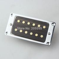 2PCS Rosewood Top Guitar Pickups w/ Gold Dot Chrome Frame