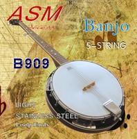5 string Banjo string Light Stainless Steel Loop Ends 10 set /lot  free shipping
