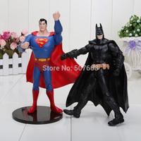 2pcs/set Batman and Superman 6'' Free Shipping Super Hero Action Figures ToysPVC Model Dolls Gifts