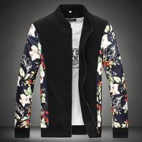 Brand New Mens Fashion Floral Jacket Outwear Size M-8XL Hot Sale