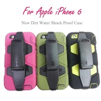 New Water Dirt Shock Proof  Silicon Case for Apple iPhone 6 4.7 Protective Cover Case Free Shipping
