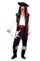 Pirate Costumes Pirates of the Caribbean Male Stage Costumes Role Play Halloween Props Masquerade Accessories