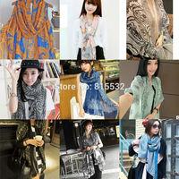 2014 Hot Fashion scarf female Summer and autumn All-match Soft Silk Scarf Tassel Rayon Polyester Print Wrap Shawl Cape Scarves
