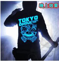 New fashion Japan Anime Tokyo Ghouls Ken Kaneki Light noctilucence cosplay costume tshirt jacket hoodie coat sweater