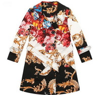2014 Fashion girl jackets winter child outerwear BABI coats top quality designer kids clothes