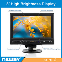 Original 100% New With HDMI VGA Input 8 Inch TFT LCD Display + Free Shipping (V82 )