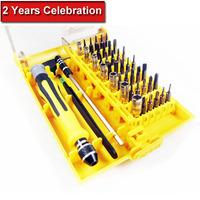 45 in 1 set Micro Pocket Precision Screwdriver Kit Magnetic Screwdriver tool repair box Hardware Repair Free Shipping