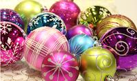 Christmas balls 6cm and 8cm  48pcs /set  Electroplating hanging ball  decor chistamas  tree home  decorations