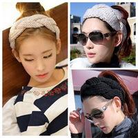 2015 Korean version of the new winter essential Ms. spiral twist wool knit warm headband wig caps wholesale