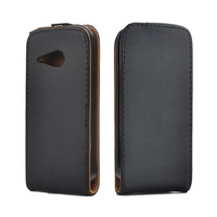 For HTC ONE M8 MINI Phone Cases Black Magnetic Vertical Style Leather Case Back Skin Protective Cover