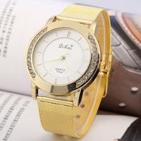 2014 Women dress watches Fashion womenhinestone watches Woman diamond bracelet watch Alloy Gold band watches 2014 new clock r
