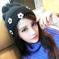 2015 New Arrival Women Fashion hats Beautiful Veil caps