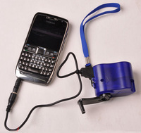 Wholesale Cell Phone Emergency Charger USB Hand Crank Manual Dynamo For MP3 MP4 Mobile PDA Free Shipping Russia & Brazil