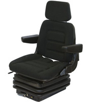 Fabric Bulldozer Forklift Tractor Suspension Seat with Armrests Headrest