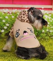 Free shipping !pet products, dog clothes,Leopard kitten, sweatshirt, T-shirt