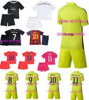 2014-2015 Real Madrid kids jersey, Spain 14/15 League KROOS RONALDO BALE James MESSI INIESTA SUAREZ NEYMAR BOYS, shirt + shorts.