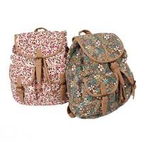 New Arrivel!  Denim Canvas Shoulder Flowers Leisure Fashion Bag School Shoulder Backpack Bag for Women Free Shipping!!