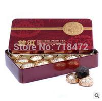 Promotion tea pu er teas 2 Flavor mini Yunnan Puer Tea ,Gift Tin box ,slimming tea for weight loss ,Puerh 15pcs  Green food