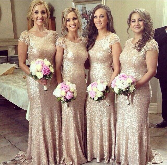 Gold Sequin Bridesmaids Dresses Long Gold Bridesmaid Dress