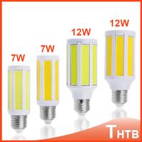 BEST PRICE!! Super Bright 220V 7W 12W COB E27 E14 LED Lamp SMD LED Corn Bulb Light E27 E14 Lamp white, warm white