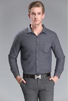 2014 New Winter Warm Dresses Black Plaid Shirt Thicken Cotton Men's Stylish Long-sleeved Shirts Vestidos de Manga Casual 2014