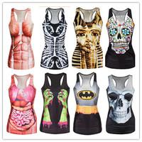 2014 Hot 3D print viscera Tanks Tops Women's Novelty Digital Print Tanks Female Sexy Camis  T-003
