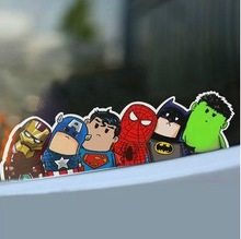 car styling The Avengers car stickers Reflective sticker wry neck cartoon 24*6 cm one piece ACT61-WBZ(China (Mainland))
