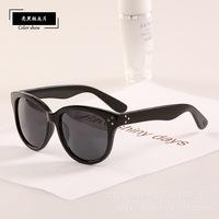 10 pcs/lot Vintage Cat Eye Rivets Good Quality Sunglasses New 2014 Brand Designer leopard Glasses Women Men Oculos de sol