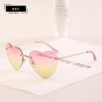 European Women 2014 New Brand Design Sunglasses heart mixed color oculos de sol glasses fashion metal frame sun glass 10 pcs/lot