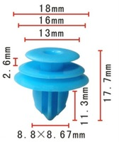 100PCS Free Shipping Garnish Moulding Retainer For Pontiac Vibe,Lexus and Toyota 2000-On Car Clips replace 88970345