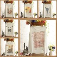 2014 new winter women's t-shirt round neck long-sleeved harajuku loose casual Sunflower t shirt women plus size clothing
