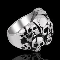MY001 Hot Stainless Steel Jewelry Cool Individual Men/Women Punk Style  GOMAYA HELLSING SKULL Ring