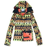 2014 mens geometric ski jacket yellow and black triangle snowboarding jacket men skiwear snow jacket waterproof breathable warm