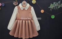 amber berry Korean brand children's clothing 2014 autumn models girls temperament embroidered princess dress wholesale