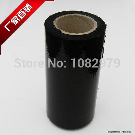 1x High quanlity 25cm wide BLACK PE STRETCH FILM PLASTIC FILM PALLET WRAP 250mm*20um*280(China (Mainland))