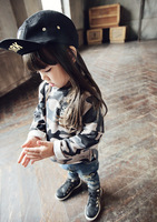 amber berry 4827 Korean version of the latest children's clothing 2014 autumn models girls navy style sweater wholesale printing