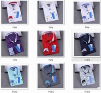 28 color New Men DUDALINA Shirts cotton camisas long sleeve masculina shirt Casual polo shirt male top tee blusas Free Shipping