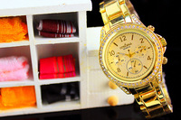 Novel Heart Shape Women Bracelet Watch Luxury Gold Quartz Wristwatch Sweet Gift Item for Girlfriends Analog Relojes 1ATM NW1759