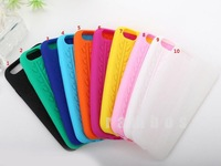 Free shipping 500 pcs /lot  Hot sale fashion Soft Silicone  Dot  The latest tire grain Gel Rubber Points case For Apple iPhone 6