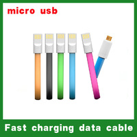Wholesale! magnet design, Micro USB phone charging data cable. Multicolor short paragraph data lines. for Samsung galaxy / HTC
