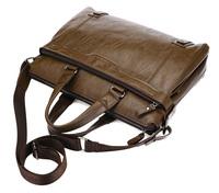Free Shipping PU Leather Men Business Handbags Casual Shoulder Big Capacity Laptop Bag Briefcase BG142