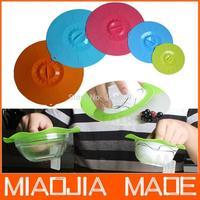 3PC/lot  Environmentally Soft  mini Silicon Bowl Lid Cover Anti-dust  size dia15x0.8cm
