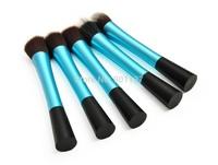 high quality 5pcs super soft taklon hair makeup brush set makeup kabuki brush kit make up kabuki kiit blue colour CZ007