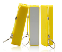 wholesale 10pcs Mini Pocket 2400mAh Power Bank Portable Li-ion Battery Charger - CellPhone for Small gifts #Yellow