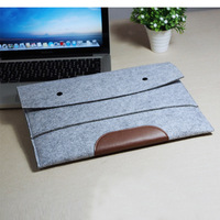 """CSCASES Hot sell ! Wool Felt 11""""13""""15"""" Laptop Sleeve Pouch For Macbook Air/Pro/Retina Ultrabook Cover Case Notebook Inner Bag"""