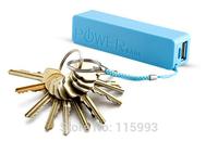 10pcs Mini Pocket Power Bank Portable Li-ion Battery Charger 2400mAh #Blue