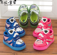 free shipping new style children Fashion Flag letters glasses casual shoes sneakers  baby sneakers